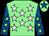 Light green, white stars, royal blue sleeves, light green stars, light green cap, royal blue star